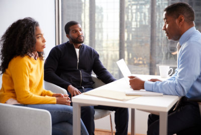 couple during the psychological counseling